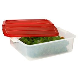 Details About Homz Holiday Wreath Plastic Storage Box Up To 24