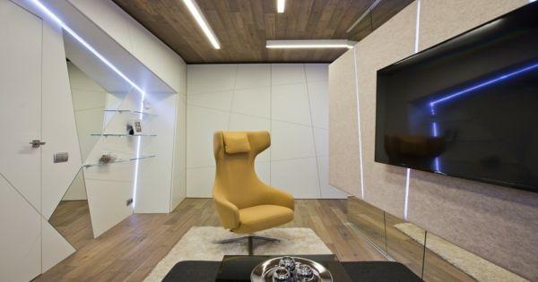 Extravagante wohnzimmer gestaltung für eine familie von musikern von