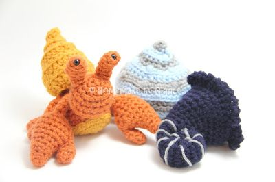 Hermit Crab with Removable Shells. FREE crochet pattern by ...