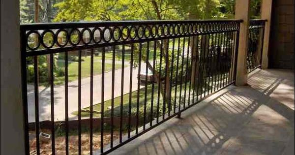 Decorative 3 Line Handrail Rails With Rings In Top Hand