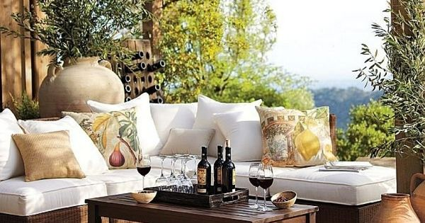 Mediterranean style outdoors pinterest terrazas for Terrazas de rattan