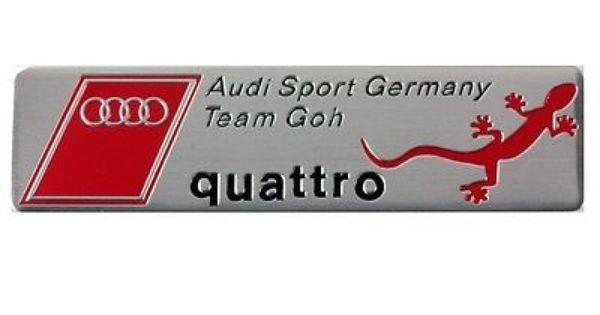 Audi Sport Germany Quattro Team Badge Emblem Metal Boot A3 A4 A5 A6 A8 S3 S4 S6 Badges Decals Emblems Body Exterior Stylin Team Badge Badge Audi Sport