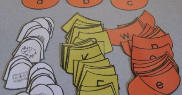 alphabet candy corn - make into a file folder