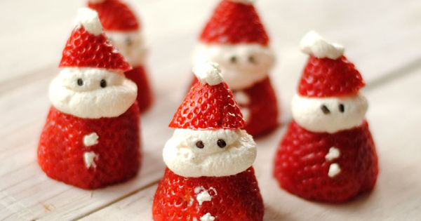 Christmas treats for kids! Santa Strawberries