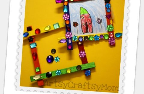craft stick photo frame - nonnie mother's day