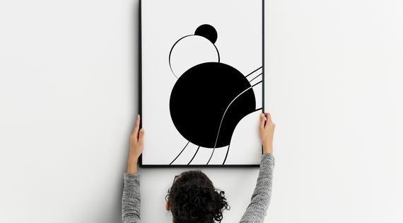 Geometric Wall Art Minimalist Abstract Poster Etsy In 2020 Abstract Poster Geometric Poster Geometric Wall Art