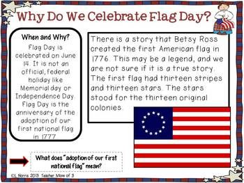 Flag Day Informational Reading American Flag Facts Flag Day Facts