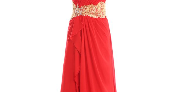 Natural waist sweep/brush train sleeveless chiffon elegant bridesmaid dress