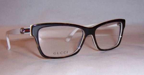 White Gucci Eyeglass Frames : NEW GUCCI EYEGLASSES GG 3562 L9Y HAVANA WHITE 53mm RX ...