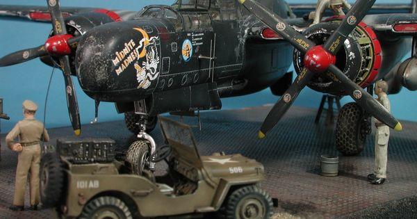 Northrop p 61a black widow build review g w h great wall hobby
