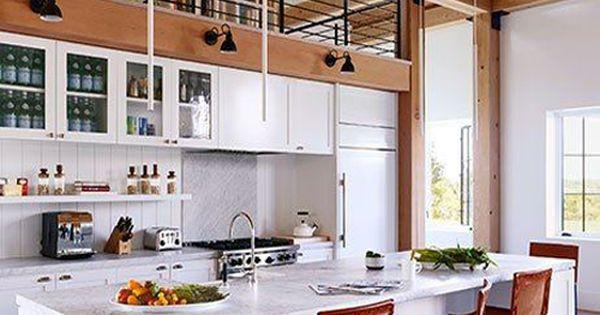 Martha S Vineyard Contemporary Kitchen With Black Sconces