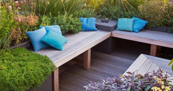 Praxis een tuinbank kun je ook zelf maken het is echt niet zo moeilijk en het voordeel is dat - Claustra ontwerp pour terras ...