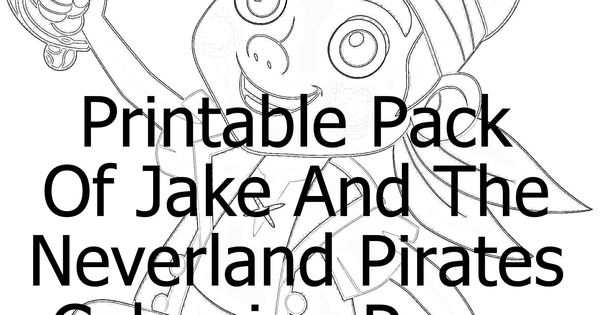 Printable Pack Jake And The Neverland Pirates Coloring Pages