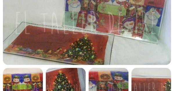 Bandejas de navidad con decoupage bandejas servilletas for Bandejas de navidad