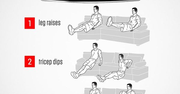 Easy workouts you can do while sitting on your sofa for Sofa workout
