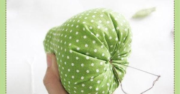 diy pear pin cushion might be a good decoration for the girl's