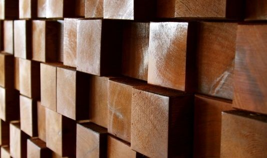 For A More Organic Effect Cover A Wall With Wood Blocks Of