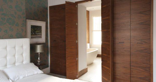 Ensuite bathroom doors very clever bedroom wardrobe for Bathroom closet doors ideas