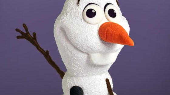 Watch a free tutorial on how to make this 3d olaf cake at the