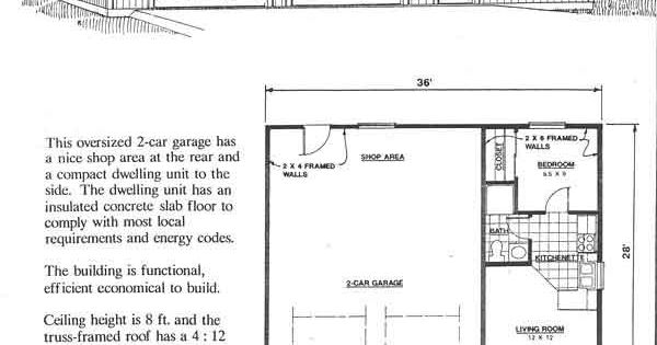 Garage with apartment plan no 1008 1 36 39 x 28 39 by behm for Apartment plans pdf