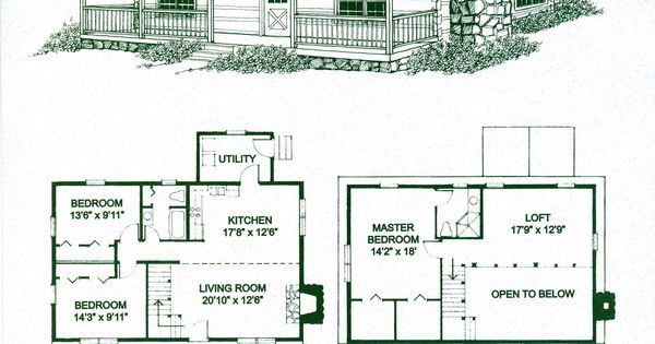 Log home floor plans home floor plans and log cabin kits for Holiday home builders floor plans