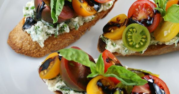 Authentic Suburban Gourmet: { Summer Tomato Crostini with Reduced Balsamic } My