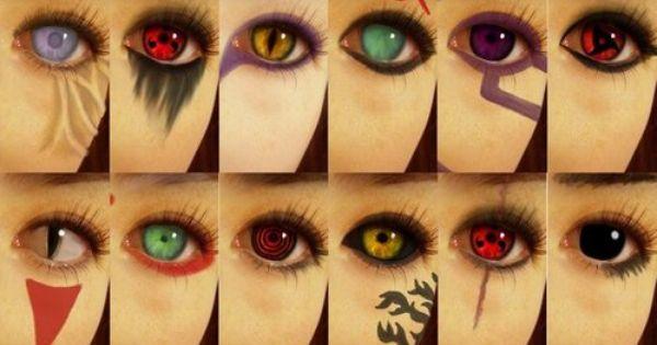 Naruto Characters Eyes Cosplay Pinterest Naruto