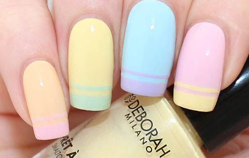 Hit two in one here, the double french nails and pastel colours