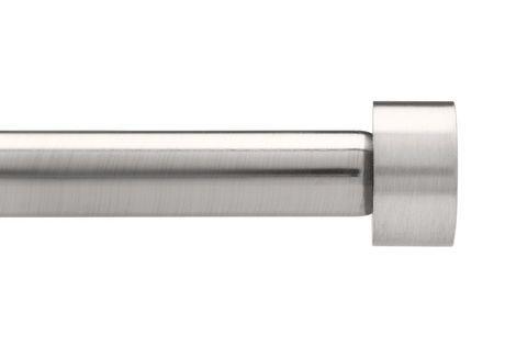 Umbra Cappa 3 4 Rod 72 144 Nickel Stl Nickel Steel Curtain Rods Drapery Rods Nickel Steel
