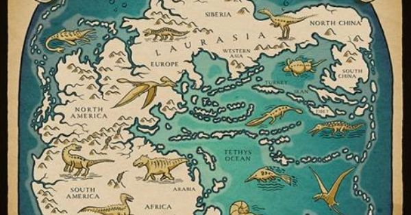 Pangaea map--Earth before the Flood. (Not millions of years ago.)