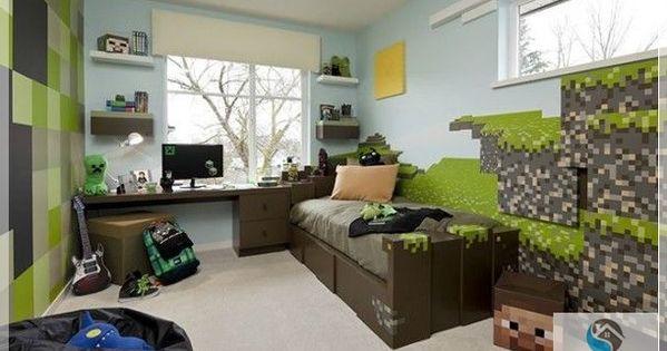 minecraft game room decor | minecraft themed bedroom ...