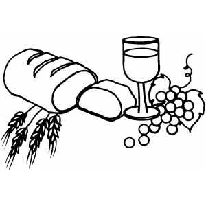 Bread And Wine Coloring Pages Color Wine