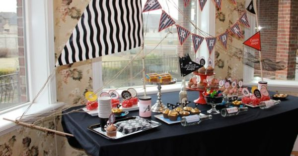 Pirate Birthday- decorate the snack table as a ship- too cool! birthday