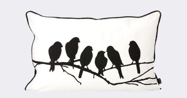 Kissen mit Vögeln, die auf einem Ast sitzen * Einrichtungsideen ...