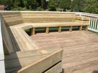 Virginia Deck Contractor Deck Seating Deck Bench Seating Deck Bench