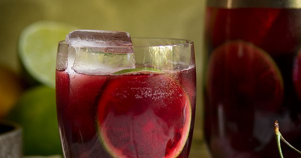 Ruby Red Cherry Sangria | Recipe | Wine, Blackberries and Orange juice