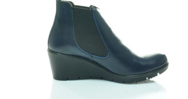 Veronii 3852l Granatowe Botki Koturn 37 39 5705270064 Oficjalne Archiwum Allegro Shoes Fashion Wedges