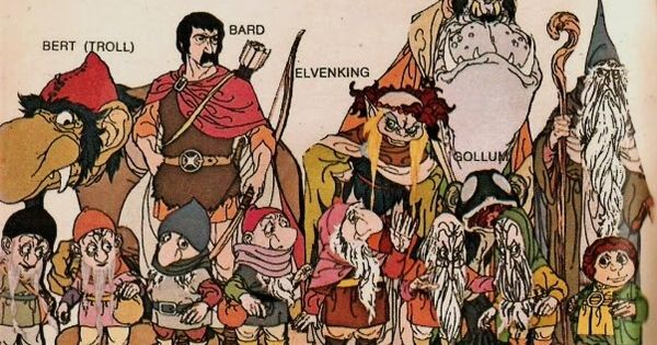 the hobbit 1977 troll elven king great goblin