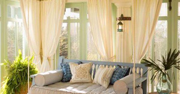 Verande, Tende bianche and Veranda decorazione on Pinterest