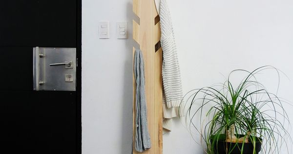 DIY modern coat rack Bob vila, Coat hanger and Coat racks