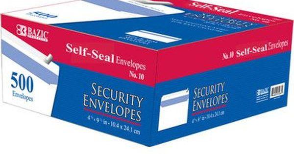 Bazic Self Seal Security Envelope Security Envelopes Envelope Self
