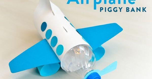 for kids  make a unique piggy bank out of a plastic bottle
