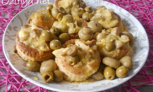 Vol aux vents l 39 alg rienne sauce olives et champignons for Dicor de cuisine algerienne