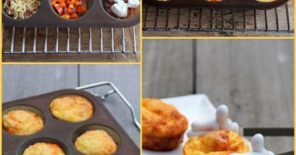 Fantastische recepten en gerechtjes die ik wil uitproberen. - Mini-fritta's........ als hapje