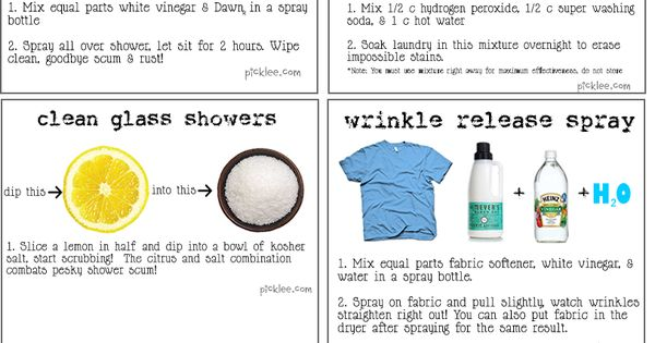 10 remarkable DIY cleaning solutions: miracle stain remover, dirty oven racks, super