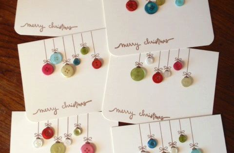 Christmas button cards - might be a good idea for gift tags