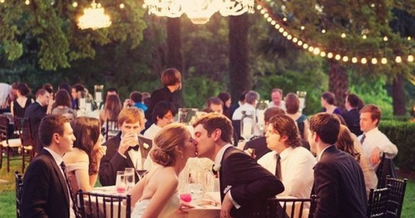 ohh i love the idea of chandeliers at an outside wedding reception