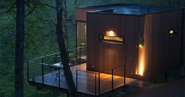 les cabanes de salagnac by apolline terrier future vacations pinterest forest cabin green. Black Bedroom Furniture Sets. Home Design Ideas