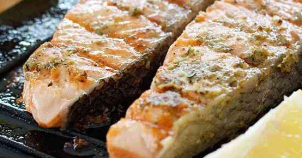 Grilled Garlic Dijon Herb Salmon   Recipe   Salmon