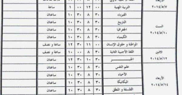 جدول إمتحان الصف الثاني الثانوي العام 2014 محافظة الجيزة عربي ولغات Sheet Music Periodic Table